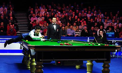 Mark Selby, pictured in action at York's Barbican Centre