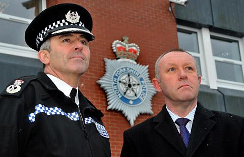 Temporary Chief Constable Tim Madgwick and Sergeant Mike Stubbs, from North Yorkshire Police Federation