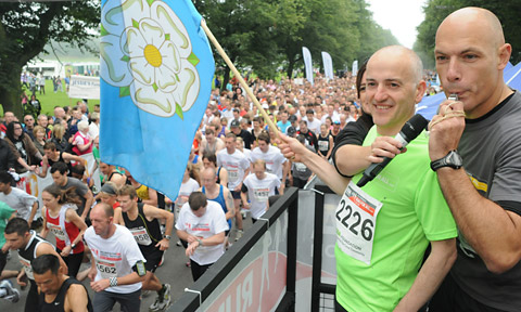 Howard Webb blows his whistle for the start of last year's race