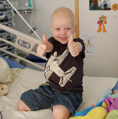 Jamie displayed immense courage throughout years of treatment in his battle to beat a rare cancer