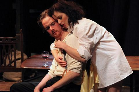 Andy Curry and Gemma Sharp in Miss Julie from Hedgepig Theatre