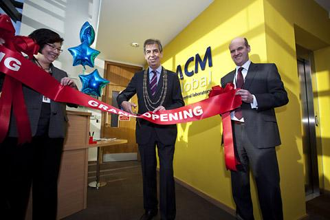 Coun Keith Hyman, the Lord Mayor of York, opens the new 14,500 sq ft ACM Global building in York
