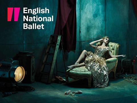 The new rebranding of the English National Ballet designed by York from The Beautiful Meme