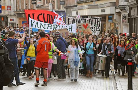 Last year's RAG parade in York city centre