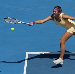 Victoria Azarenka progressed to the quarter-finals at the Australian Open (AP)