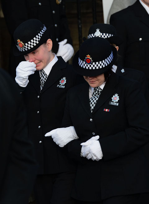 Tributes paid at police officer Andrew Bramma's funeral