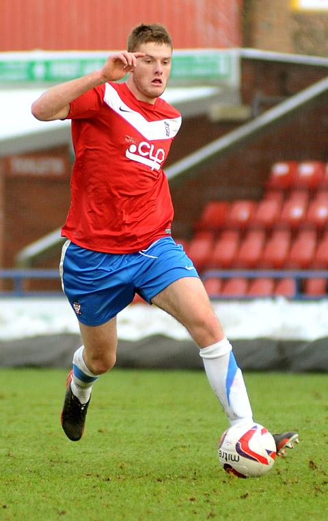 Blackburn Rovers centre-back Jack O'Connell in action for York City in yesterday's 1-0 reserve defeat against Scunthorpe