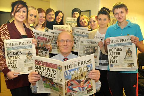 Young people from the Springboard project go behind the scenes at The Press