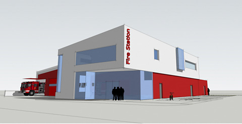 An artist's impression of the new fire             station in Kent Street, York