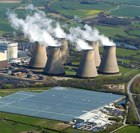 Drax Power Station from the air