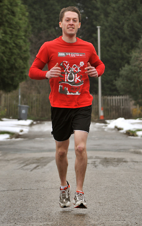 Mike Wright, of Heworth, who will be taking part in both the Manchester and Yorkshire marathons, and the Leeds Half-Marathon