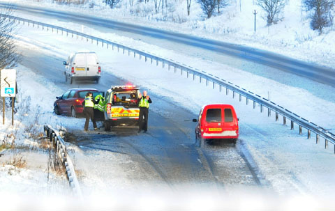 Couple rescued from car as heavy snow covers North Yorkshire