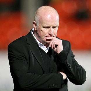 Peter Houston has made an early exit from Dundee United