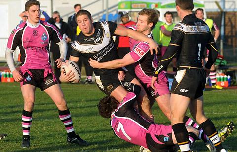 Hull winger Tom Lineham is pictured during last weekend's friendly against York City Knights. The  one-time Knights star could return to Huntington Stadium in 2013 on a dual-registration basis