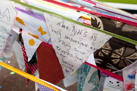 More than 15,600 pieces of bunting will be on display