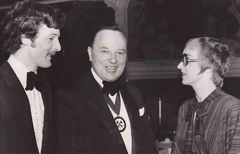 Arthur Morton, centre, pictured in March 1977 when he was president of the York & District Association of Auctioneers