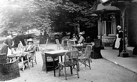 How the tearoom looked in the early 20th century