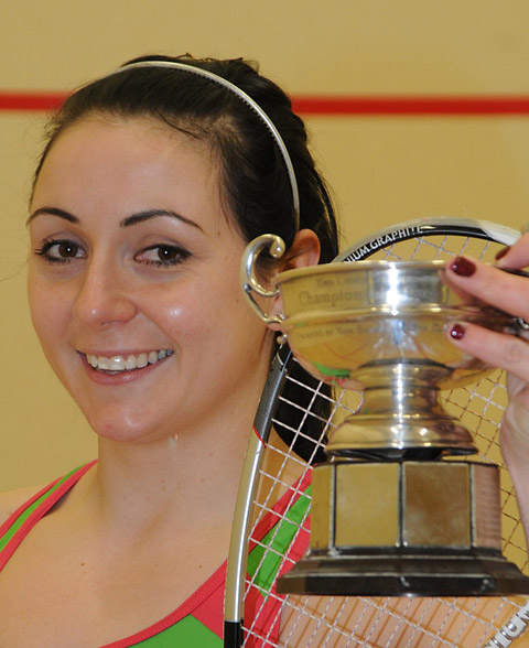 Squash: Champion Natalie Cain aims for second sweet win