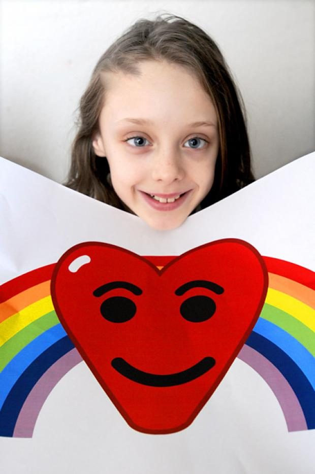 Wigginton Primary School pupil Alyssa Hood, who has won an NHS logo design competition