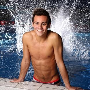 Tom Daley did a synchronised dive with Splash winner Eddie The Eagle Edwards