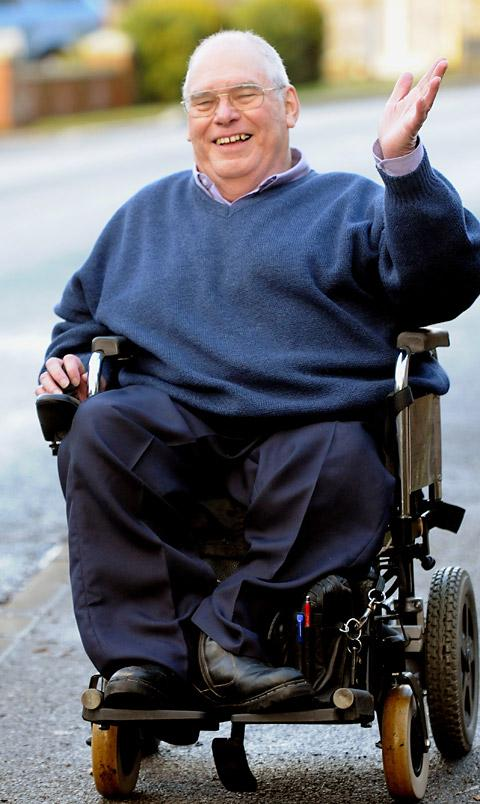 Jim Porteous, who has been confined to a wheelchair for 60 years after contracting polio as child