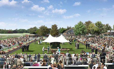 How the new parade ring might appear at York Racecourse if plans are approved