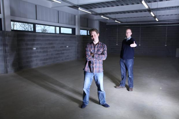 Matthew Bloch, left, and Peter Taphouse, founders of Bytemark Hosting in the new data centre
