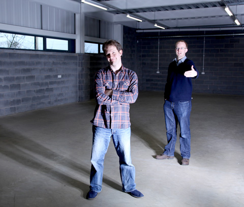 Matthew Bloch and Pete Taphouse, founders of Bytemark Hosting, view the building which will house the new data centre