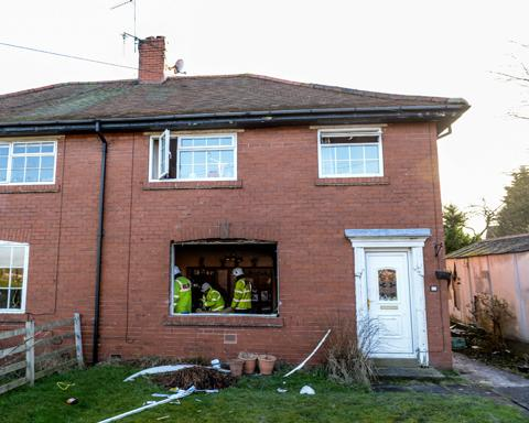 Elderly man rescued from gas explosion