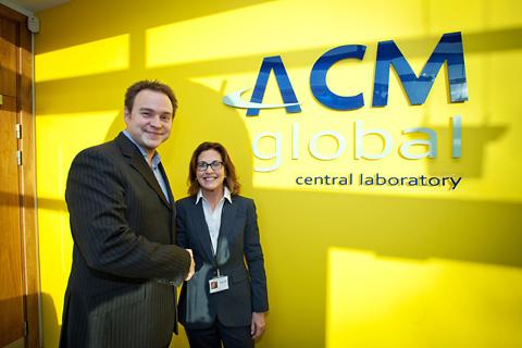 Cynthia Smith, marketing manager of ACM Global, with Dave Kirkham, managing director of Beyond Colour creative marketing agency