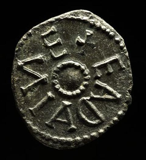 A 'sceatta', a silver coin about the size of a five pence piece.