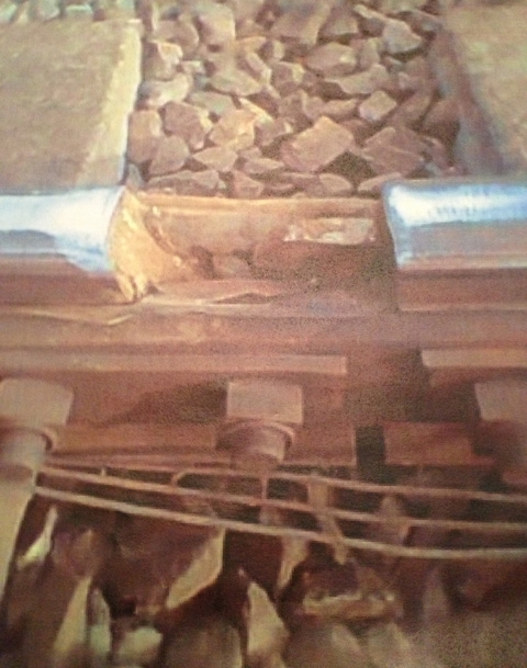 Six inch gap on 125mph railway line