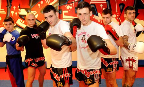 Fighters ready for the Ring Series 2 start are, from left, Charlie Foster-Vigors,  Al Chambers, brothers John and Liam Brough, Liam Goodwin and Dan Chilton