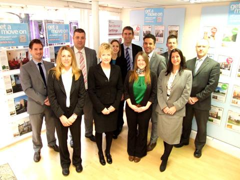 The William H Brown team, including new recruits Sarah Stabler, front row, second right, Carol Newbury, front row, second left, and Kevin Coundon, back row, third right