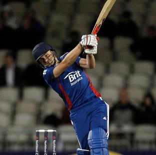 Luke Wright smashed four sixes in a prolific England innings