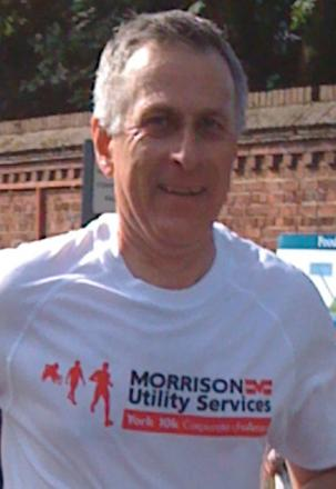 Andy Speakman running in the York Run For All 10k event