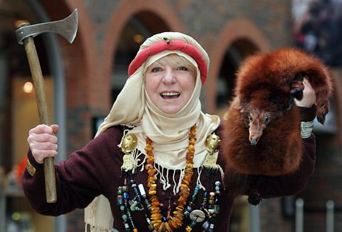 Viking Frigga Boardotter, aka Colleen Devanney, of the Jorvik Viking Centre, who is the region's contender to become Visit England's Tourism Superstar.