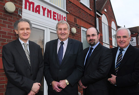 From left, Peter Hyett of First Stop News, Tony Wright of Maynews, Martin Frost of Denison Till and Keith Ward of Calvert Smith