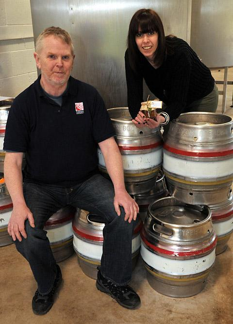 John Lewis  and Sally Hargrave, at Treboom Brewery in Shipton-by-Beningbrough