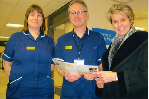Ryedale MP Anne McIntosh, right, during her fact-finding visit to Malton Hospital with ward manager Amanda Wilson and Norman Barclay, the hospital's clinical lead officer