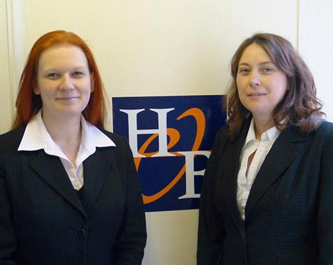 New partners at Howard & Byrne solicitors, Lee-Anne Robins-Hicks, left, and Jacky East