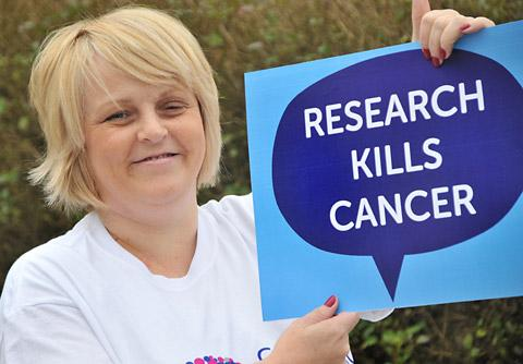 Louise Twissell, of Acomb, adds her support for Cancer Research Uk's new campaign