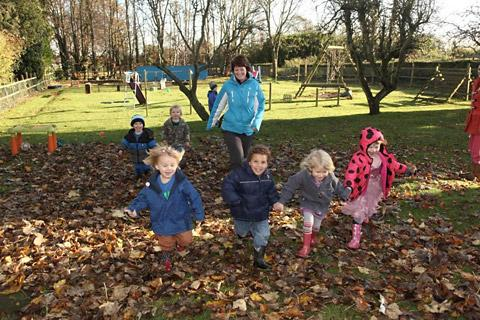 Children celebrate at High Trees Day Nursery