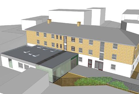 An artist's impression of how the new centre at  Oliver House might look