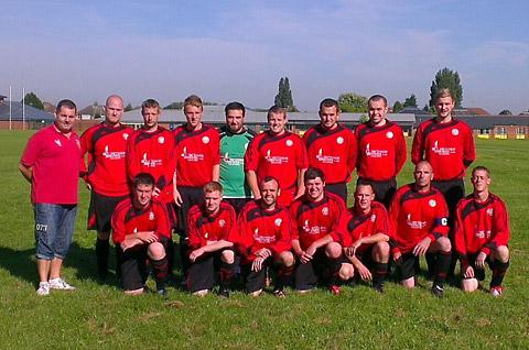 The Post Office team which is to play against a side from Emmerdale
