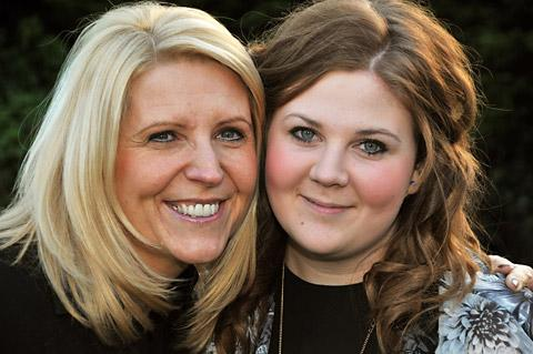 Holly Batten, right, with her mum, Tracey, who recognised the symptoms of meningitis and reacted quickly in getting her daughter to hospital