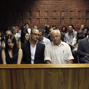 Oscar Pistorius' family were again in court to support the Paralympian (AP)