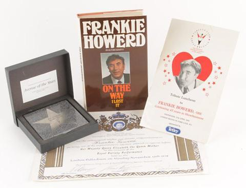 Bidding was brisk at the auction selling items from Frankie Howerd's collection of memorabilia