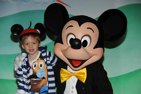 William Rhodes at Disney World with Mickey Mouse