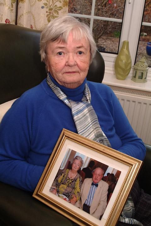 Margaret Dykes, 83,  and a photograph of her with  husband John